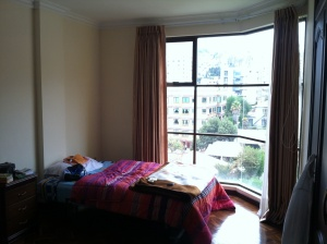 My room for the month :) I am loving those windows!!